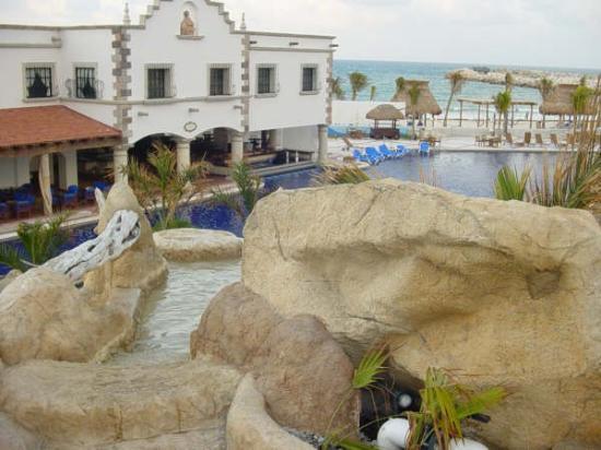 "Hotel Marina El Cid Spa & Beach Resort: from the ""cliff dive"" pool"