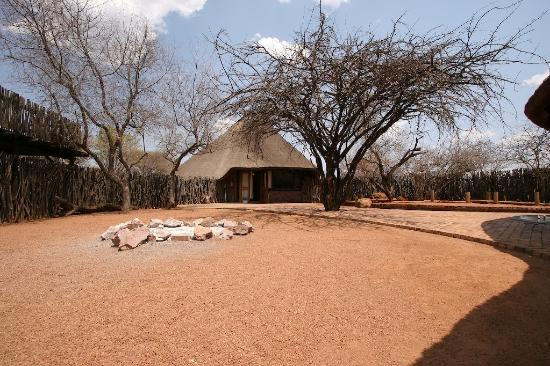 Sondela Nature Reserve Accommodation: A Sondela chalet in its enclosure