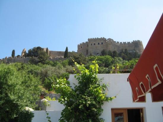 Melenos Lindos Hotel: Blick zur Akropolis