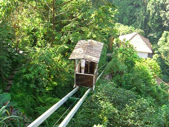 Hanging Gardens of Bali: one of the trollys