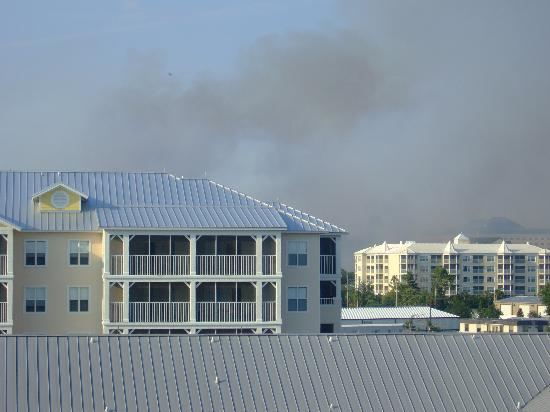 Marriott's Harbour Lake: Nearby Brush Fire