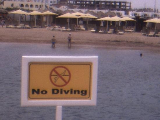 SUNRISE Holidays Resort: ironic sign found in Hurghada!