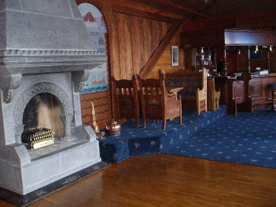Balestrand, Norway: the fire place