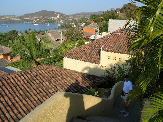 Villas San Sebastian : View from top level stairs
