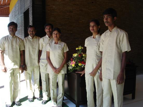 Mysore, India: the friendly spa staff