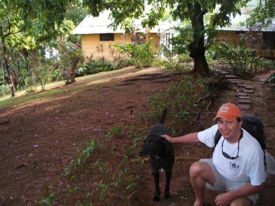 Marenco Beach & Rainforest Lodge: Me and Ricoh - this is a great dog - give him some food if you see him!