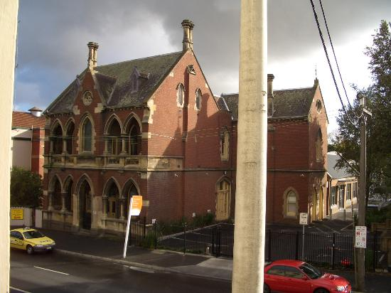 Glenferrie Hotel: Another view of building across the street taken from window
