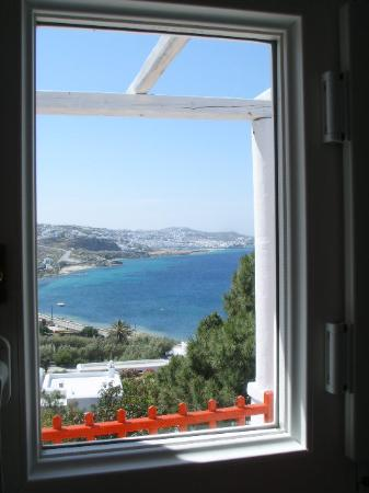 View from inside the room