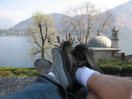 Villa Carlotta: a relaxing moment on a bench
