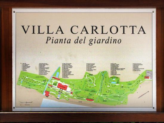 Villa Carlotta: sign