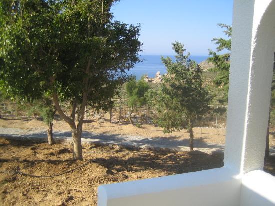 Vritomartis Naturist Resort: View from bungalow terrace
