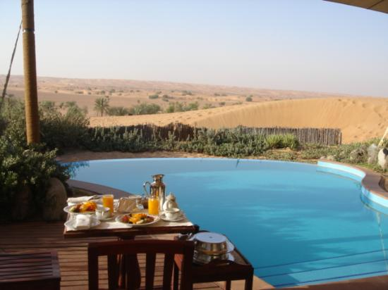 Al Maha, A Luxury Collection Desert Resort & Spa: breakfast on our deck