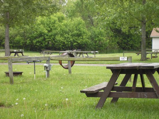 Sandusky KOA campground: Tenting Site