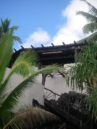 """Pacific Resort Aitutaki: Looking up at """"our home"""" from the beach"""