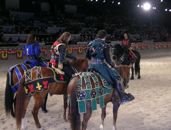 Medieval Times Dinner & Tournament: The blue knight was ours
