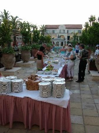Napa Plaza Hotel: The outdoor buffet