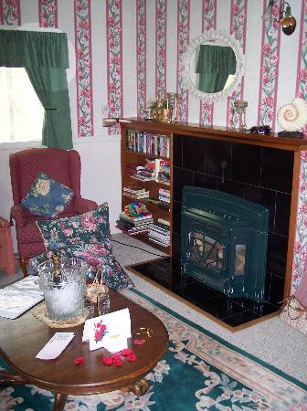 Sandlake Country Inn: Fireplace in the Cottage