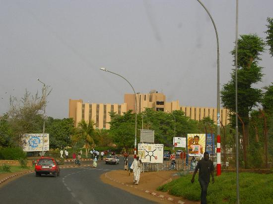 Hotel Gaweye: The tall building is the hotel.