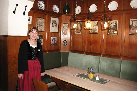 Glocke Hotel: Stephanie, our hostess
