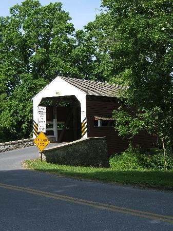 Jonde Lane Farm B&B: A covered bridge down the road from the farm