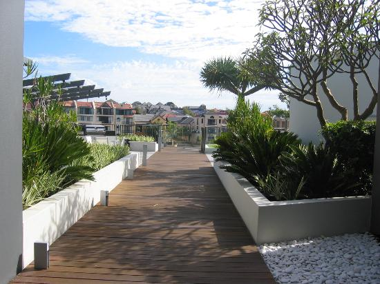 The Sebel East Perth: The deck near the swimming area