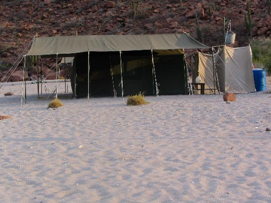 Baja Camp : our tent