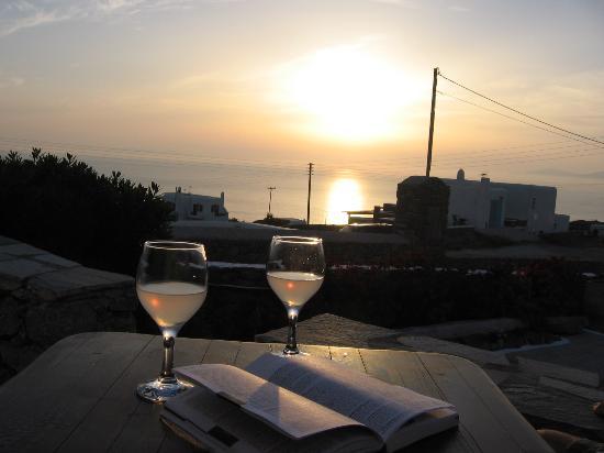 Villa Konstantin: sunset on balcony