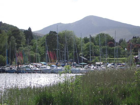 The Derwentwater Hotel : Marina at Portinscale from the hotel grounds