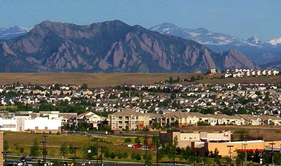 TownePlace Suites Boulder Broomfield: Wow!  there's the Flatirons outside my window!