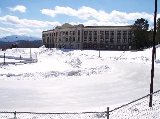 Lake Placid, NY: outdoor ice rink