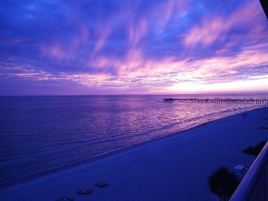 Ram Sea Condominiums: sunset from balcony