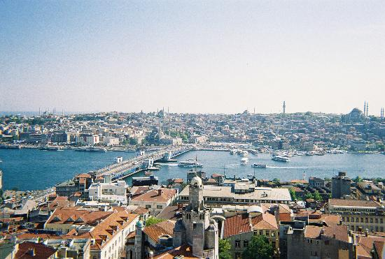 Istanbul, Turkey: Golden Horn from the Tower - right photo