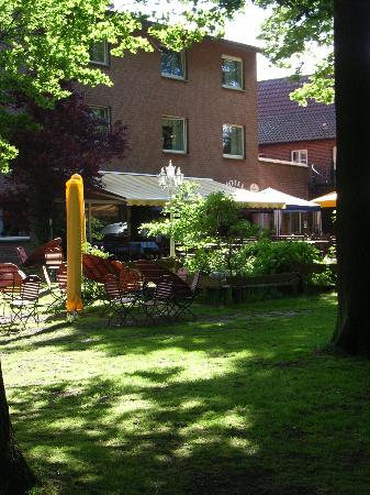 Hotel Grosse Teichsmuehle: Patio at the rear