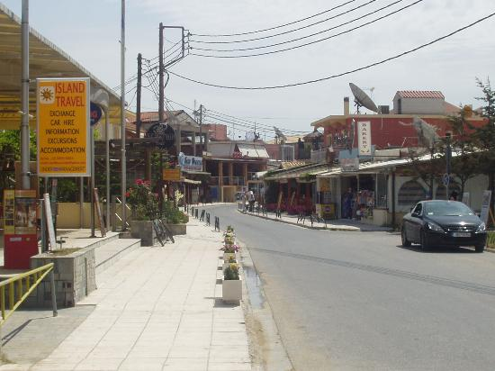 Three Brothers Hotel: Sidari main street