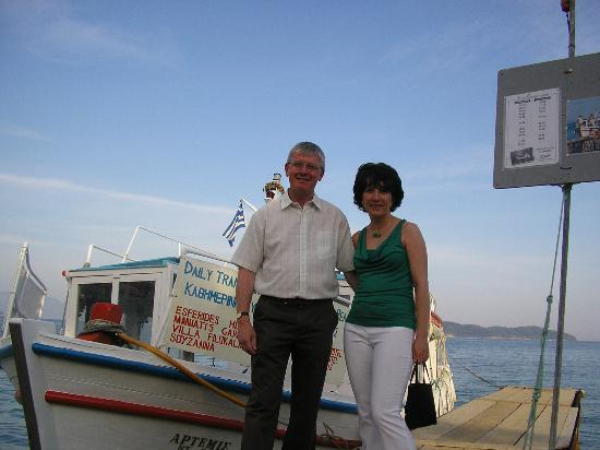 Hotel Esperides: A trip into town on the boat in the evening