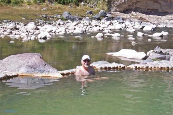 Yanque, Peru: Steve in Thermal Pool