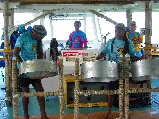 Paradisus Punta Cana Resort: Steel drums on the snorkel/booze cruise!