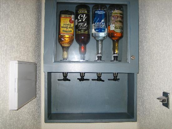 Liquor Dispenser In Hotel Rooms