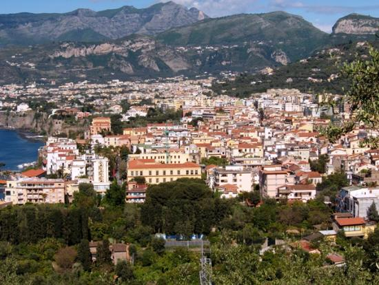 Hotel Bristol: Our view of Sorrento below
