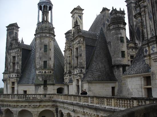Chateau de Chambord: Up on the roof-now I know what the song meant