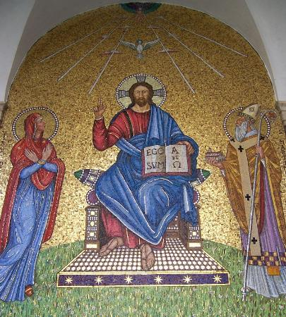 Abbazia di Montecassino: Mosaic in location of original oratory