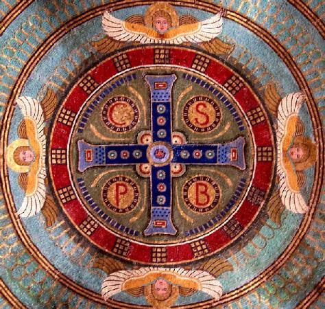 Abbazia di Montecassino: Mosaic on dome in the crypt