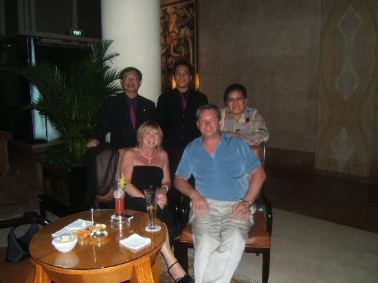 The Ritz-Carlton, Millenia Singapore: Us with the band