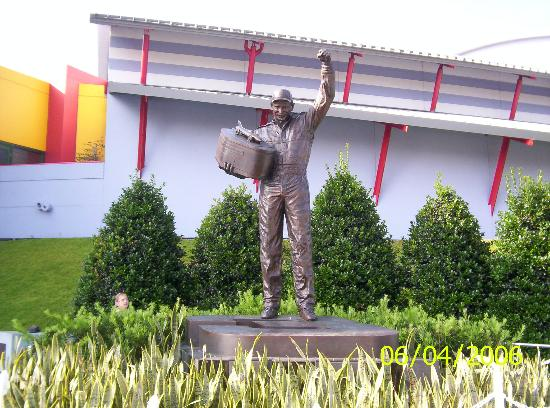 Daytona Beach, FL: Dale Earnhardt statue outside Daytona USA