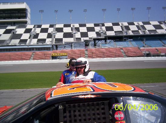 Daytona Beach, FL: My husband getting ready to take his ride!