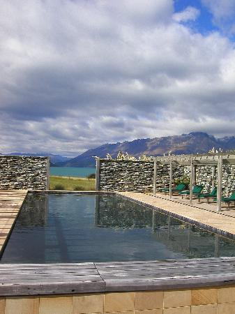 Glenorchy, Nieuw-Zeeland: view from the pool