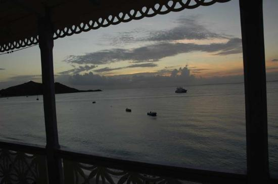 La California: Evening view from apt. deck.
