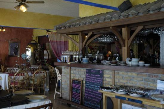 La California restaurant interior.