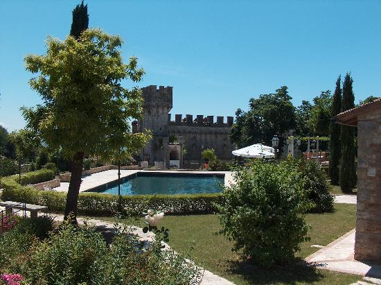 Castello delle Serre : View of the grounds from the front porch of the cottage