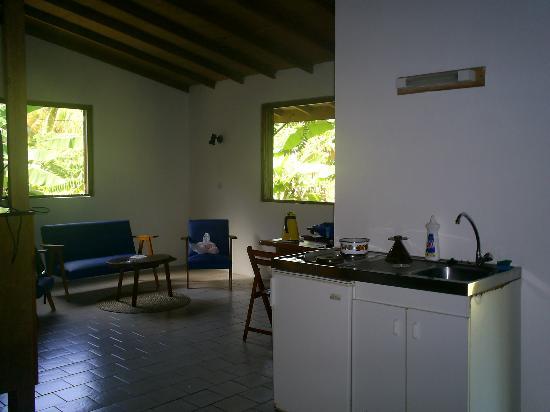 Sisters Sea Lodge : kitchen inside bungalow